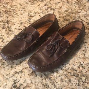 Johnston & Murphy leather slip on loafers